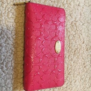 Cute pink and gold, Coach wallet!!!